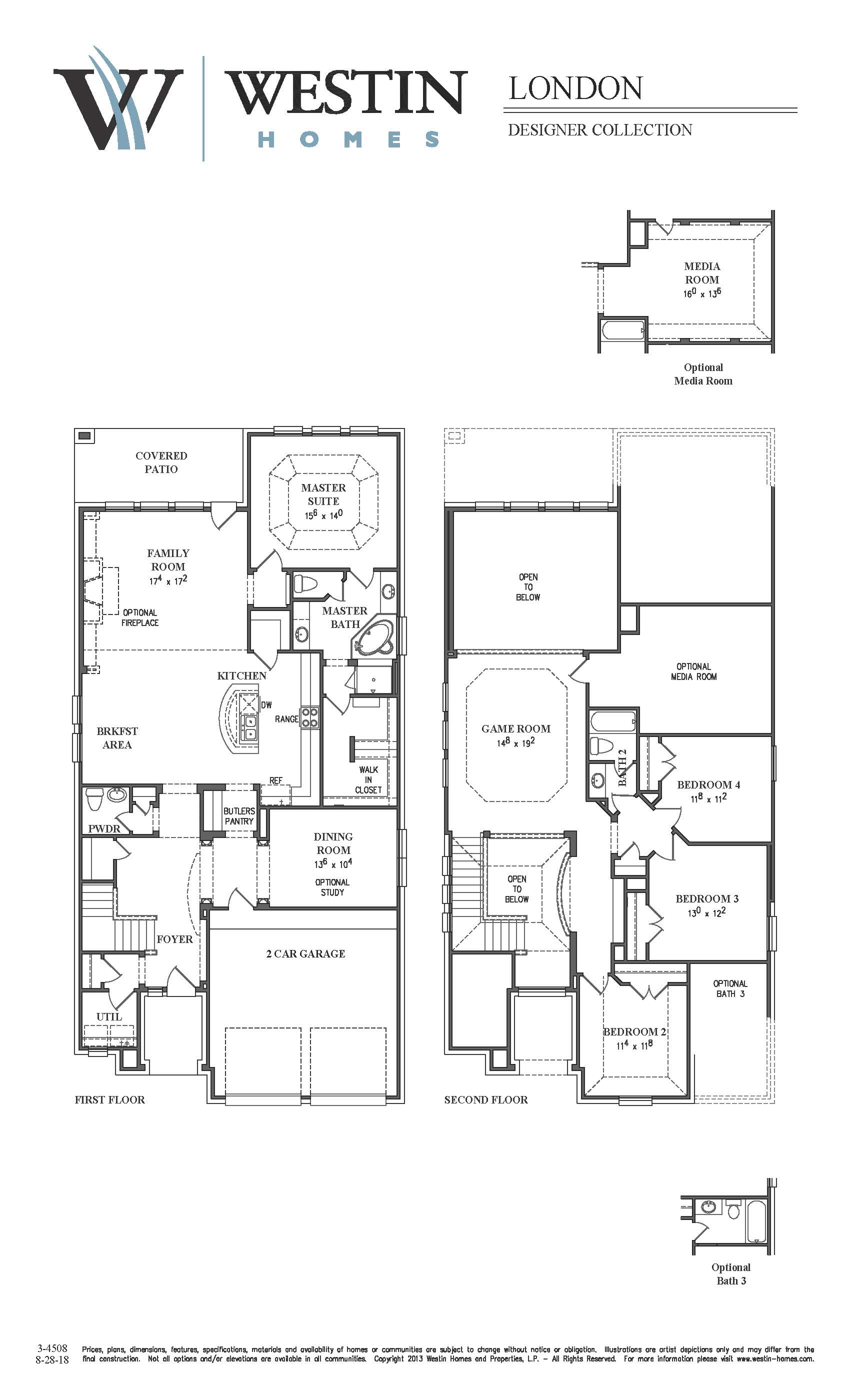 Westin homes floor plans awesome 7818 sydney bay court for Westin homes floor plans