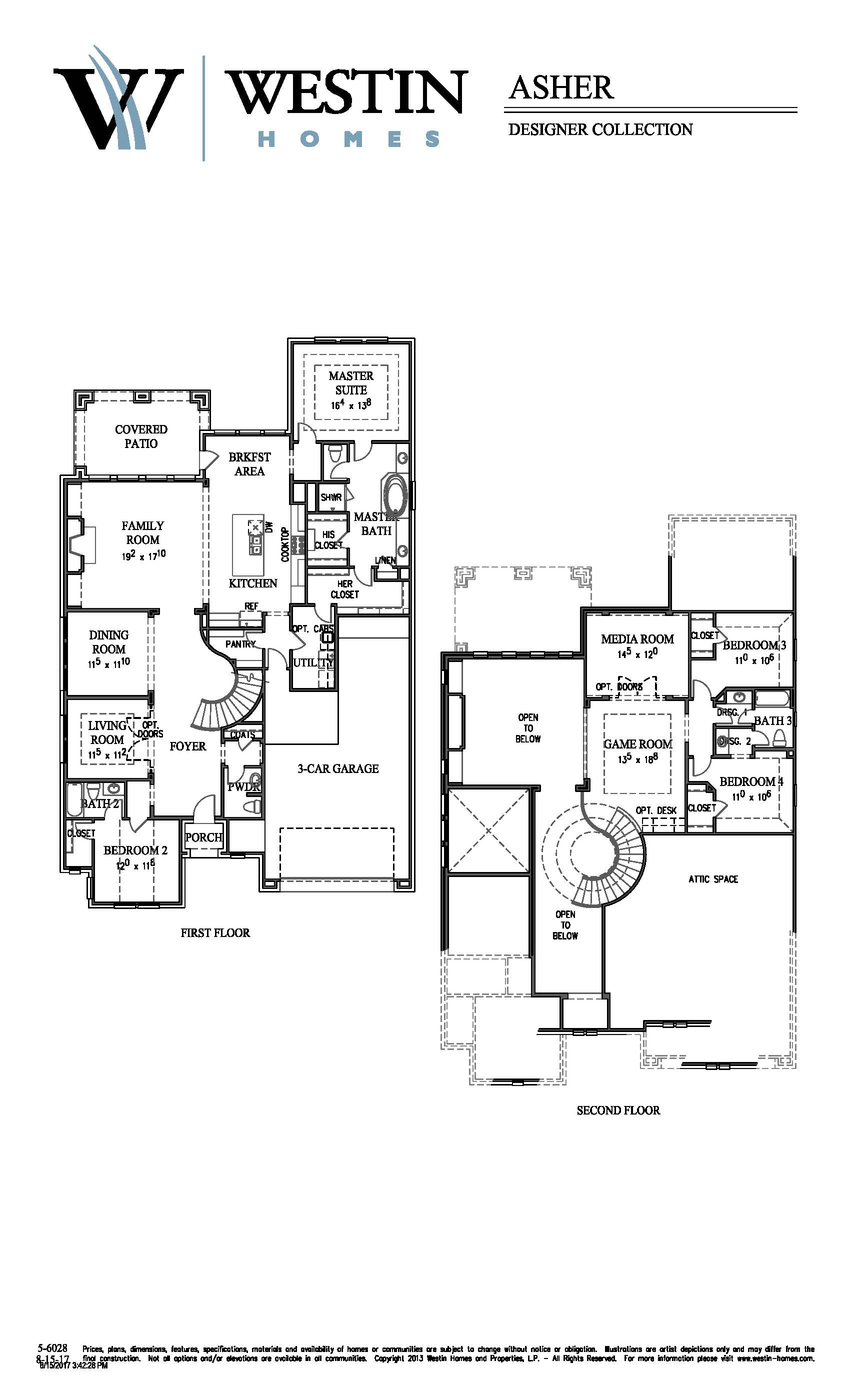 Westin Homes Floor Plans Part - 47: FloorPlan